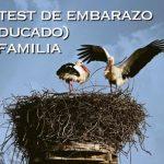 Un test de embarazo en familia