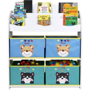 ordenar juguetes estantería libros