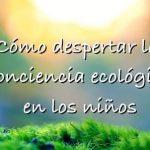 Cómo despertar la conciencia ecológica en los niños