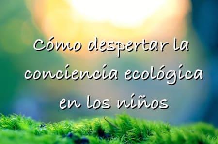 como despertar conciencia ecologica niños