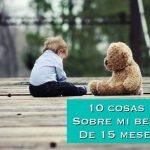 10 cosas sobre mi bebé de 15 meses
