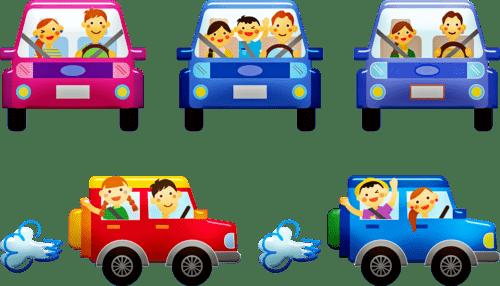 viajar niños en coche