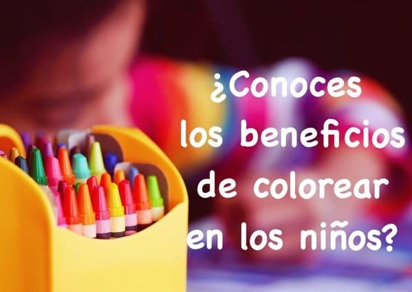 beneficios de colorear en los niños