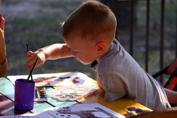 colorear niños