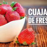 Receta con fresas: cuajada de fresa