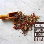Cosmética natural para el cuidado de la piel