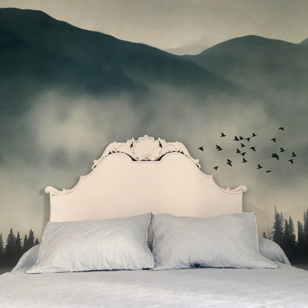 papel pintado dormitorio matrimonio