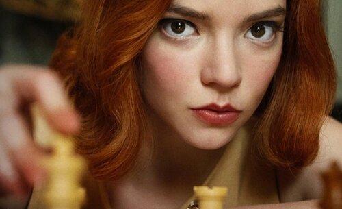 color de pelo gambito de dama