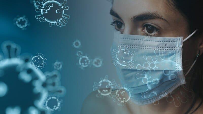 coronavirus mujer con mascarilla