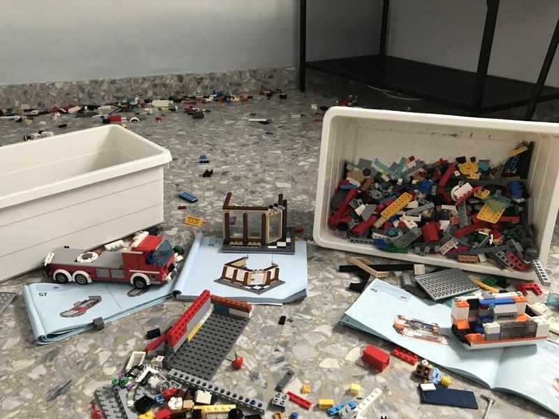 montando los sets de lego