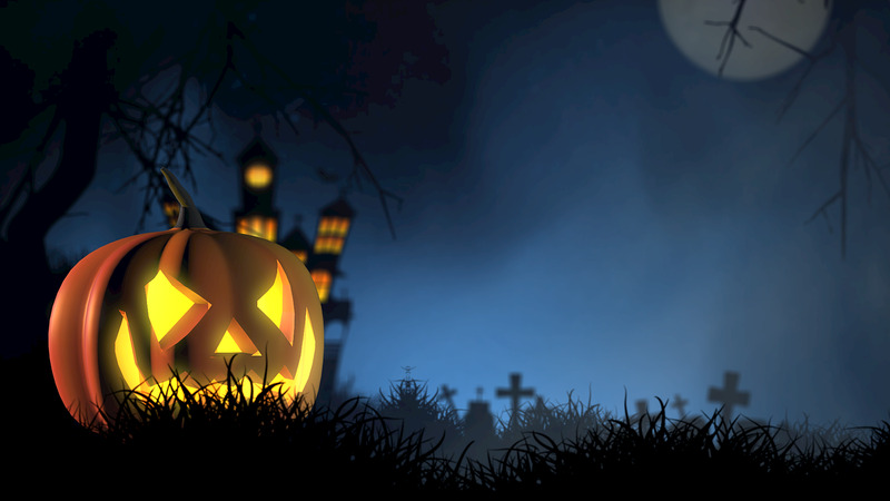 calabaza iluminada de halloween