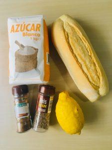 pan limon azucar anis canela